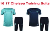 athletic training kits - Benwon Chelsea training soccer suits short sleeve outdoor soccer tracksuits athletic training football kits thai quality sports sets