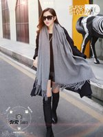 Wholesale Korean wool scarf and thickening in autumn and winter long imitation cashmere shawls scarf to keep warm dual purpose students in South Korea
