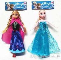 Cheap Frozen Dolls 11.5 inch Elsa Anna Toy Doll Action Figures Vinyl Frozen Doll Frozen Toy Kids Gift Frozen Doll Toy Vinyl Doll LJJE153 540pc