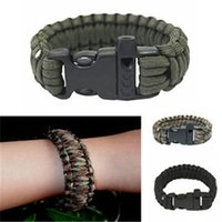 aids bracelets - Outdoor Survival Bracelet First Aid Rope Woven Scraper Gear Kits Paracord