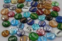Wholesale Gravierte Kristall Steine Freies Verschiffen teile los Wort wollen Glücks Steine Name Stein