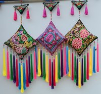 Wholesale Handmade Embroidered Chinese Ethnic Wall Hanging Pendant wall hanging tapestry Big Bells gadgets carpete tapisserie tapestry fabric