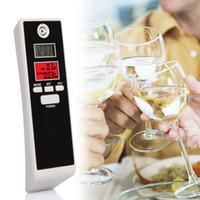 Wholesale Portable Breath Alcohol Analyzer Digital Breathalyzer Tester Alcoholicity Tester Alcohol Detection Units BAC g L