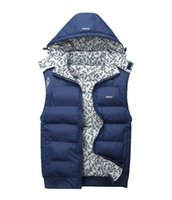 Men ad pad - AD Winter Mens Vests Coats Outerwear Cotton Padded Vests men Sport coat Hooded Padded Size XL XL Colors Winter sales