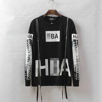 aire hip hop - 2016 hombres moda Hip Hop sudaderas cremallera lateral HBA capucha por aire con capucha de Harajuku de la médula espinal X ray Streetwear Te