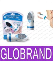 Wholesale Electronic Pedi Spin Foot Callus Removal Kit Pedi Spin Removes Calluses Dry Skin Foot Care Tools GLO905