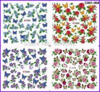 art serial - 10 MEDIUM SHEETS INCHES FULL PAGE C SERIAL FLOWER NAIL TATTOOS STICKER WATER DECAL NAIL ART DESIGNS IN