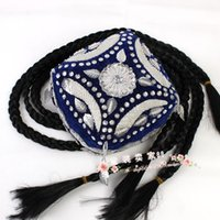 Wholesale Xinjiang Flower Hat Dance Dance cap beads hat braid four hat Uygur dance hat