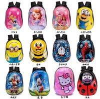 Wholesale Minions Children s bags New children Shell Cartoon Backpack Eggshell Kindergarten years of age sales