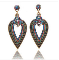 Wholesale 2016 Bohemian earrings Dangle Chandelier alloy love earrings For Christmas Pendant Earrings designer beads earrings Jewelry