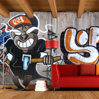 bars wallpaper - Custom Large Mural Wallpaper Personality Graffiti KTV Lounge Bar Cafe Living Room Backdrop Wallpaper D Retro Photo Wall Paper
