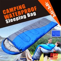 Wholesale Best Single Outdoor Camping Waterproof Envelope Sleeping Bag Hiking Winter Texitle