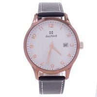 arabic scale - Daybird Women s Quartz Wrist Watch w Arabic Numeral Scale Simple Calendar Black Coffee hour format PU Leather