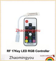 Wholesale 10PCS LED RGB Controler DC12 V key RF Wireless Remote Controller for RGB LED Strip