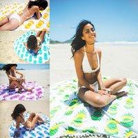 Wholesale 2016 Pineapple Mandala Round Tapestry Boho Hippie Throw Indian Rug Beach Yoga Mat