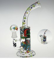 art random - SCRAWL NEW DESIGNS SKETCH BONG SKETCH DESIGNS ARTS WATER PIPE OUCHKICK BONG RANDOM DESIGH PATTERN WITH A GLASS BOWL
