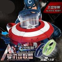 al por mayor avengers movie aderezos-Ccsme Nuevos Vengadores película Capitán América 3 Flying Guerra Civil escudo de plástico Juguetes Capitán América Escudo Frisbee cossplay Puntales E936