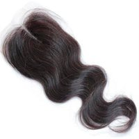Wholesale Cheap Brazilian Human Hair Lace Closure Top Closures Piece body wave hair closures inch only
