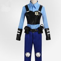 Wholesale ZOOTOPIA officer Judy Hopps bunny cosplay costume police uniform any size