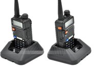 Wholesale x2 Hot Portable Radio Baofeng UV R two way radio Walkie Talkie pofung W vhf uhf dual band MHZ baofeng uv R