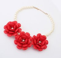 Wholesale Kids Girls Necklace New Fashion D Flower Necklace Baby Girl Gift Jewelry Children Accessories Colors SDB1182