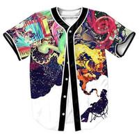 artistic tees - Artistic Jazz Jersey with buttons Hip Hop Men s shirts d print overshirt Streetwear baseball shirt sport tops cool tees Casul