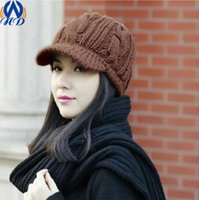 beanie cap pattern - New Designs Women Caps Twist Pattern Women Winter Hat Knitted Sweater Skullies Beanie Hats For Female Drop Shipping MZ00018