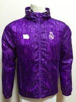 Wholesale 16 Real madrid purple Waterproof Windbreaker Hooded jacket