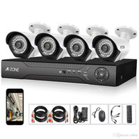 Wholesale A ZONE Channel cameras P AHD Home Security Cameras System HD P MP waterproof Night vision Indoor Outdoor surveillance kit