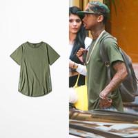 bell zipped - High Street Tees TYGA T Shirt Men Zip Army Green T Shirts Arc Cut Hip Hop Streetwear Fashiom Brand Summer Tops