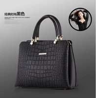 Wholesale 2016 New Mature Fashion Ladies Crocodile Grain Casual Tote Handbag Shoulder Bags for color for pick