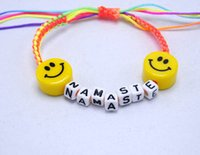 alphabet beads ceramic - Handmade jewelry charm bracelets for women GD emoji ceramic beads bracelet Korean alphabet activity statement bracelet ZD095