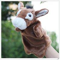 Wholesale New StyleToys Donkey Doll Plush Hand Puppet Donkey Cute Plush Toys Children Story Props Kids Dolls