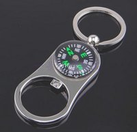 Wholesale compass bottle opener key chain originality Car Key Chain key Rings Keychain Keyring businss gift