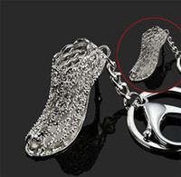 Wholesale beauty hollow pumps high heels crystal shoes model keyring chain