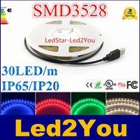 usb rgb - SMD3528 USB Cable V LED Christmas stripe light lamp cm cm cm LEDs Flexible Strip Light TV Background Lighting Kit