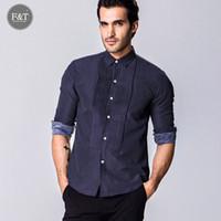 asian shirt folding - Asian size Men Dot printing palace style folds Dress Shirt silm fit Turn down Collar Mens tuexdo Shirts Designer Clothes