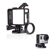 Wholesale 50 sets Gopro Camera Hero3 Extendable Frame Protecor UV Glass Quick Release Border Frame Buckle Strap Lens Protector