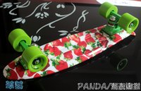 Wholesale 22 quot Multi pattern small banana fish plate Skateboard Fish Skateboard single rocker longboard