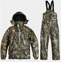 Wholesale Windproof Waterproof Men Army Camo Hunting Clothing Camouflage Realtree Sport Warm Woodland Winter Jacket Camo Hunting Suits