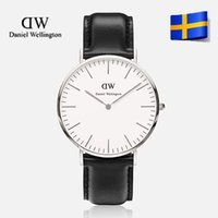 Wholesale DW Watches Men Luxury Brand Daniel Wellington Quartz Watches Men Leather Watch Casual Wristwatch Male Clock relojes hombre