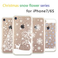 plastic flower - 2016 latest Christmas Snow Flower Series Tpu Soft Phone case cover for Iphone S Plus iphone