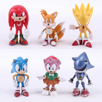 amy game - 6pcs set Sonic Sonic PSP game Doll sonic Tails Amy Rose Knuckles the Echidna Rouge the Bat
