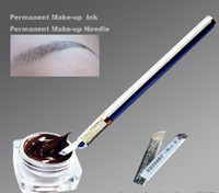 Wholesale Tattoo Body Art Tattoo Inks Freeshipping Paste Eyebrow Lip Micropigmnet No Fade No Change Color For Permanent Makeup Manual Pen