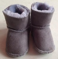 air walker boots - Winter Baby Shoes Newborn Kids Boys Girls Soft Sole Moccasins Boots Ugs Babys Toddler Warm Fur First Walkers New
