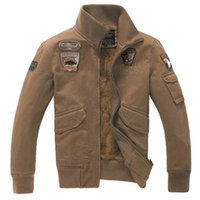 air tooling - Fall new winter air force uniform jacket men tooling cotton casual men s cashmere coat jacket with locomotive