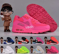 Cheap New Max 90 Children's Shoes Boys Girls Running Shoes Cute Kids Athletic Baby Lightweight Pink White Navy etc Trainers Cheap Maxes Size 30-35