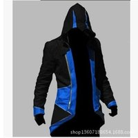 assassin s creed sweatshirt - Assassins Creed III Conner Kenway Men Hoodie Jacket Anime Cosplay Assassin s Costume Cosplay Coat Novelty Sweatshirt Overcoat