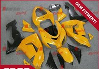 plastic injection molding - Painted yellow and black custom plastic injection molding fairing Kawasaki Ninja ZX10R