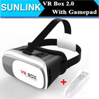 Wholesale 2016 VR BOX II Version D Glasses VR Headset Virtual Reality Google Cardboard Smart Bluetooth Wireless Mouse Remote Control Gamepad